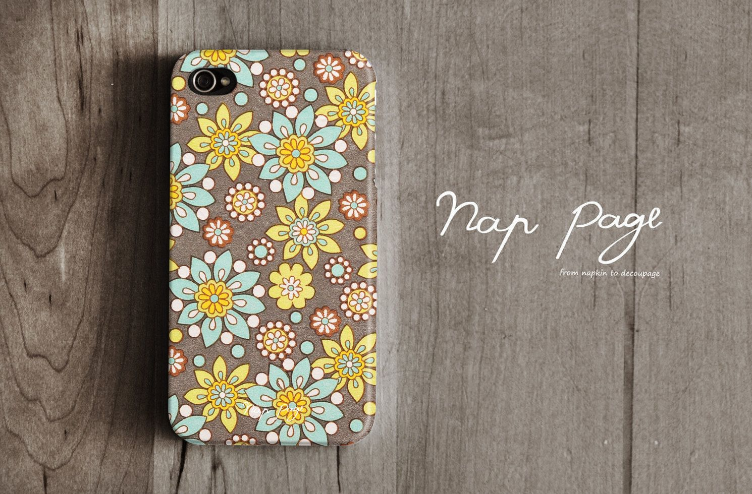 Apple iphone case for iphone iphone 4 iphone 4s iphone 3Gs : Colorful flower pattern. $19.90, via Etsy.