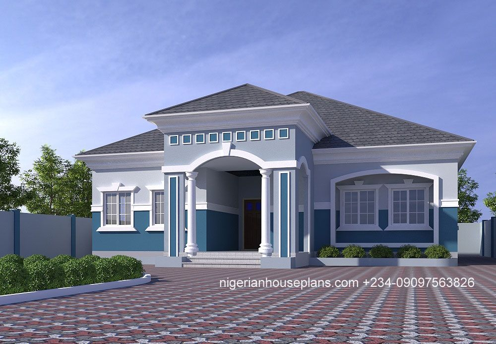 4 Bedroom Bungalow Ref 4029 Nigerianhouseplans Bungalow House Floor Plans Bungalow Style House Bungalow Design