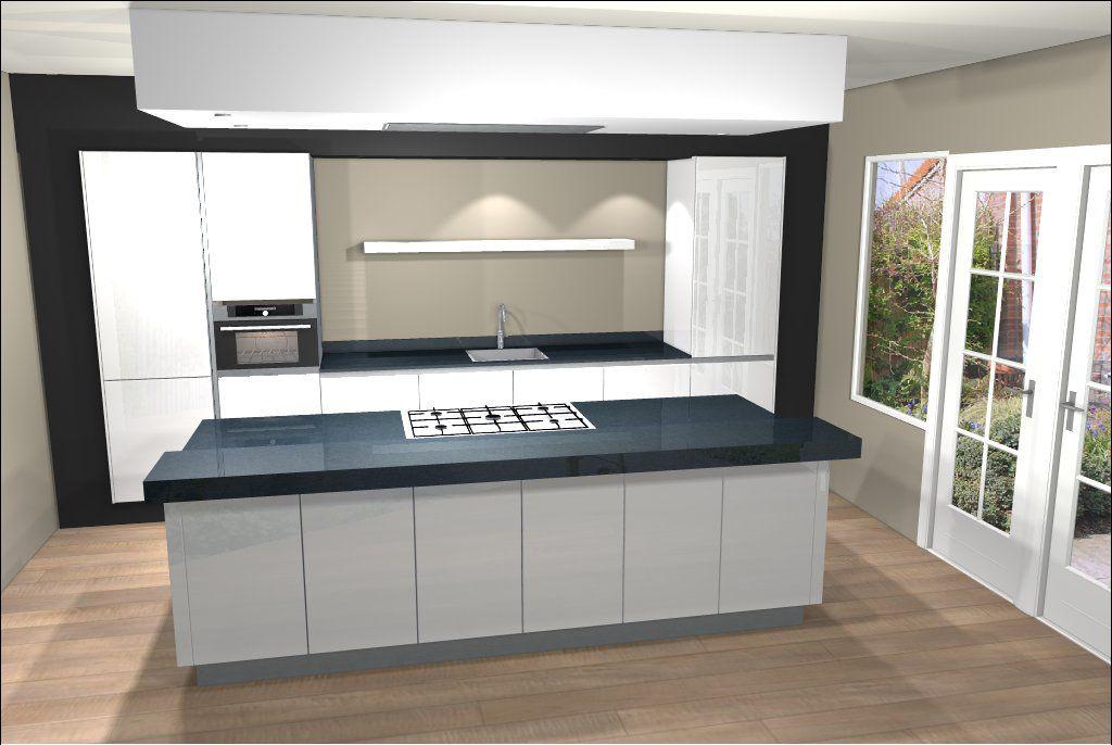 Greeploze Keuken Wit Mat : Ontwerp van keuken met kookeiland Eiland keukens