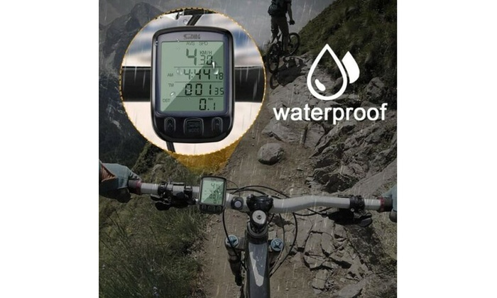 Us Lcd Digital Cycle Computer Bicycle Bike Backlight Speedometer