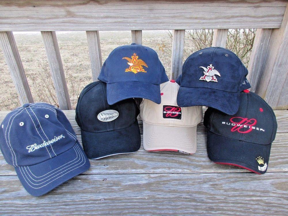 Anheuser Busch Budweiser Beer Hat Lot Limited Edition Numbered 2003  Clydesdales  Budweiser  BaseballCap 8a10a0a2dbf5