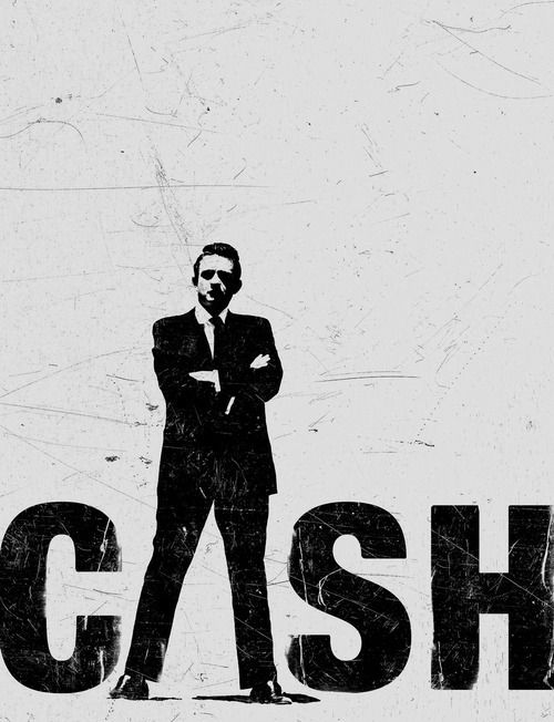 Johnny Cash Man Black Giant Poster Art Print
