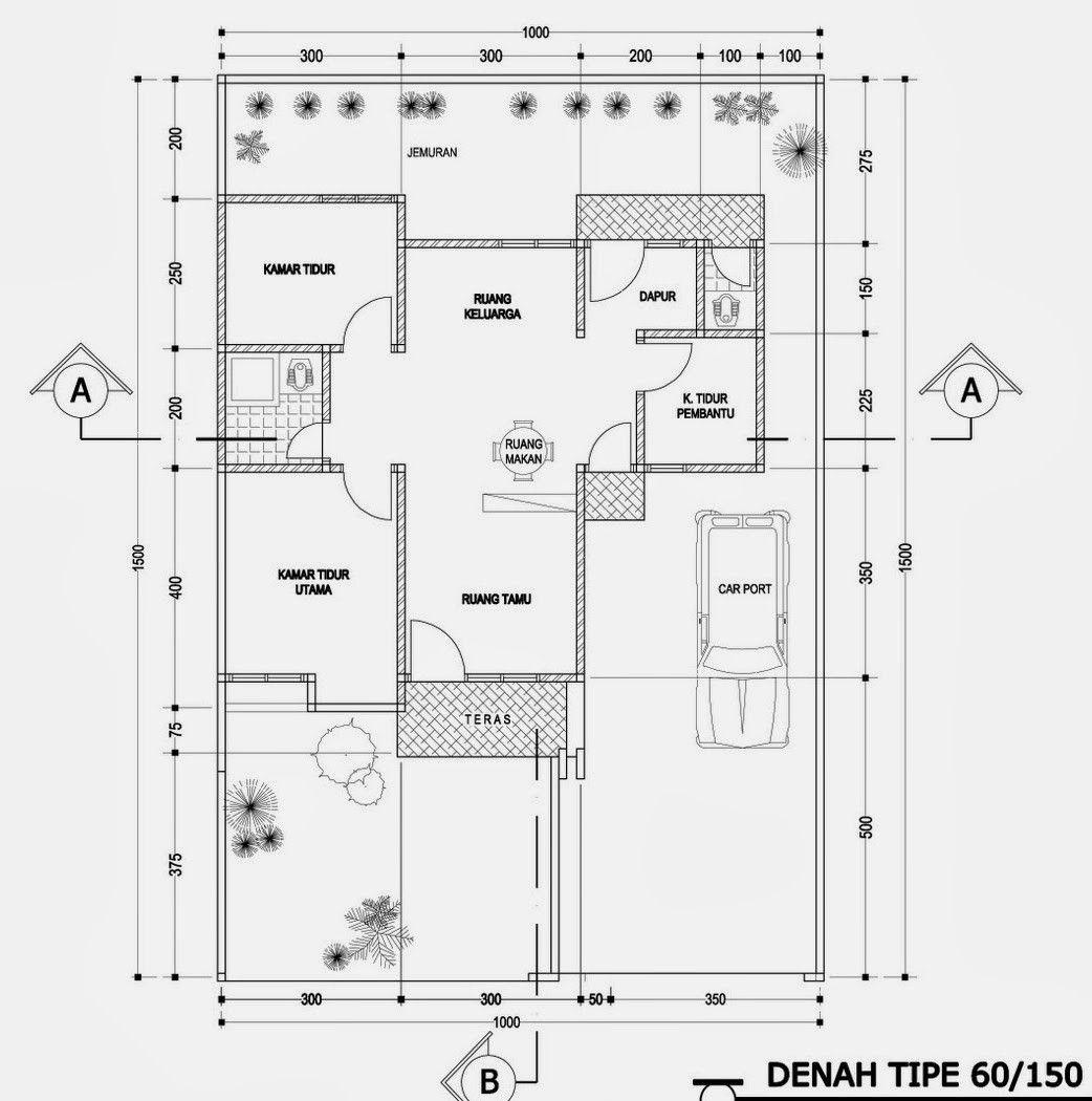 4 Gambar Denah Rumah Tipe 150 Yang Minimalis