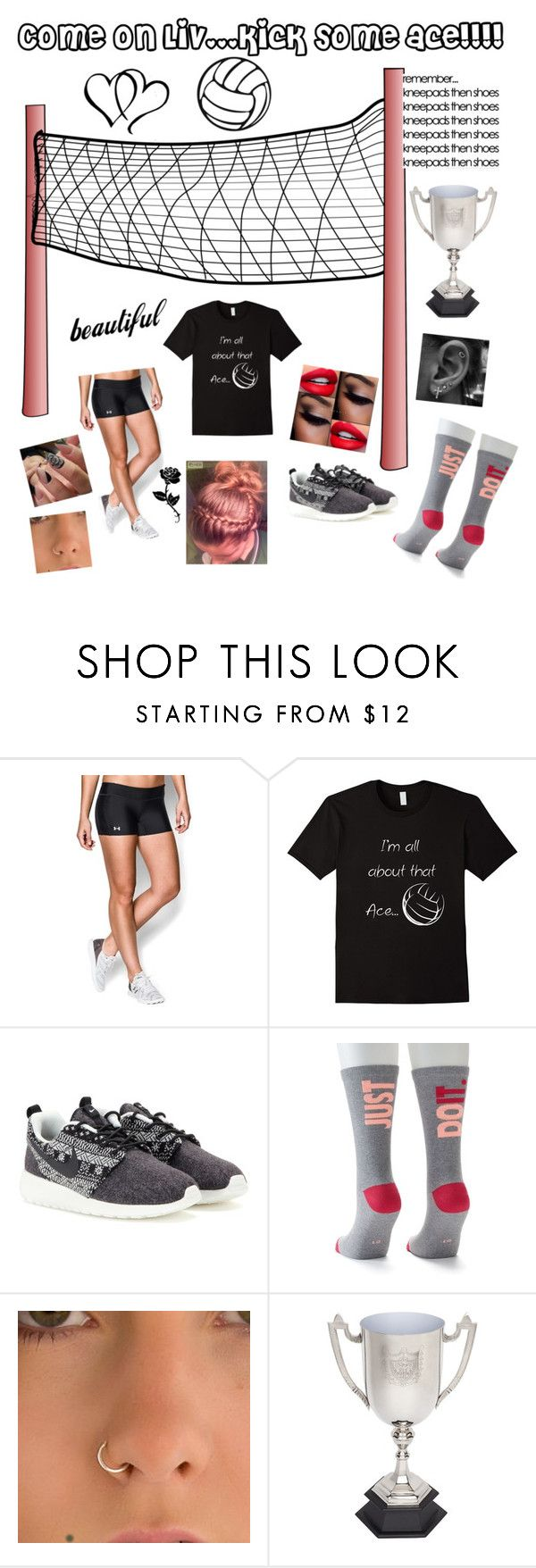 """""""YOU CAN DO IT"""" by elizrose77864 ❤ liked on Polyvore featuring Under Armour, NIKE and Gypsy"""