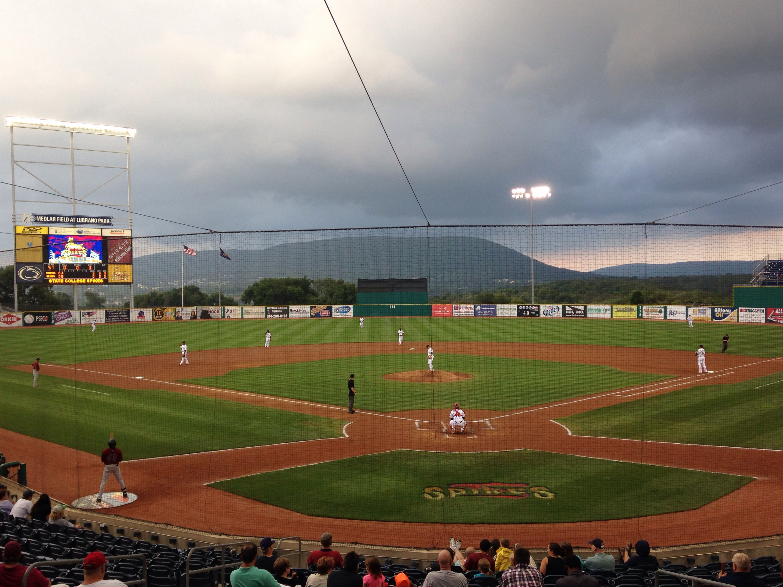 Medlar Field State College Spikes Baseball Stadium Minor League Baseball Great Night