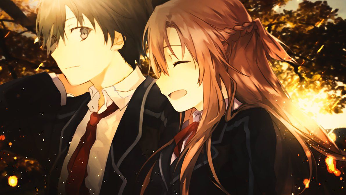 SAO Asuna and Kirito Sword art online, Nghệ thuật, Anime