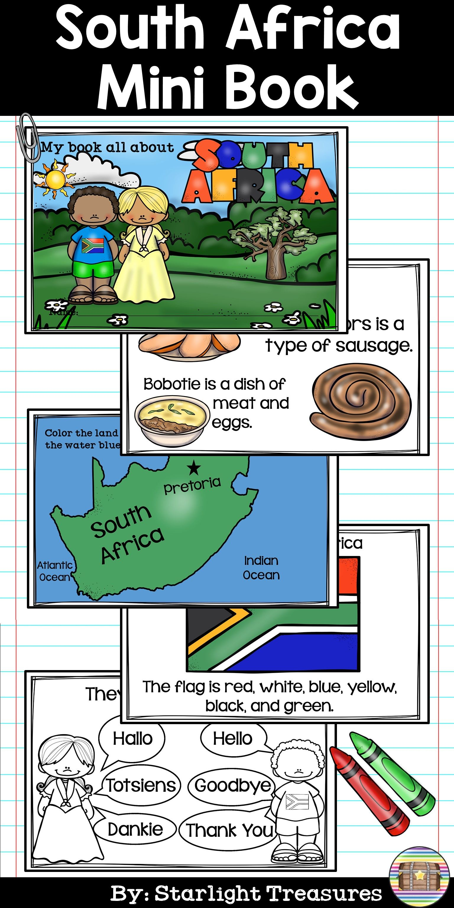 South Africa Mini Book For Early Readers
