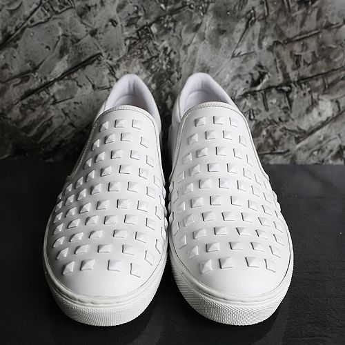 [Valentino] Studded Leather Mixed Pattern SLIPON SHOES