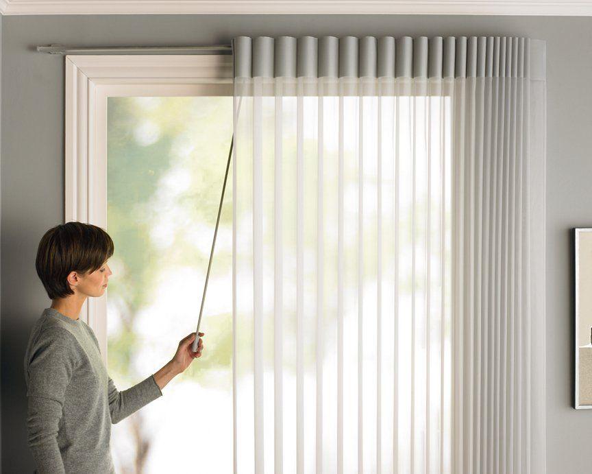 Luminette Modern Vertical Blinds Sliding Door Blinds Sliding Glass Door Window Treatments Patio Door Window Treatments