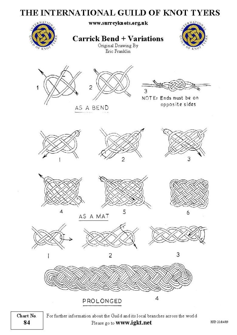 carrick bend and variations | knutar | Pinterest