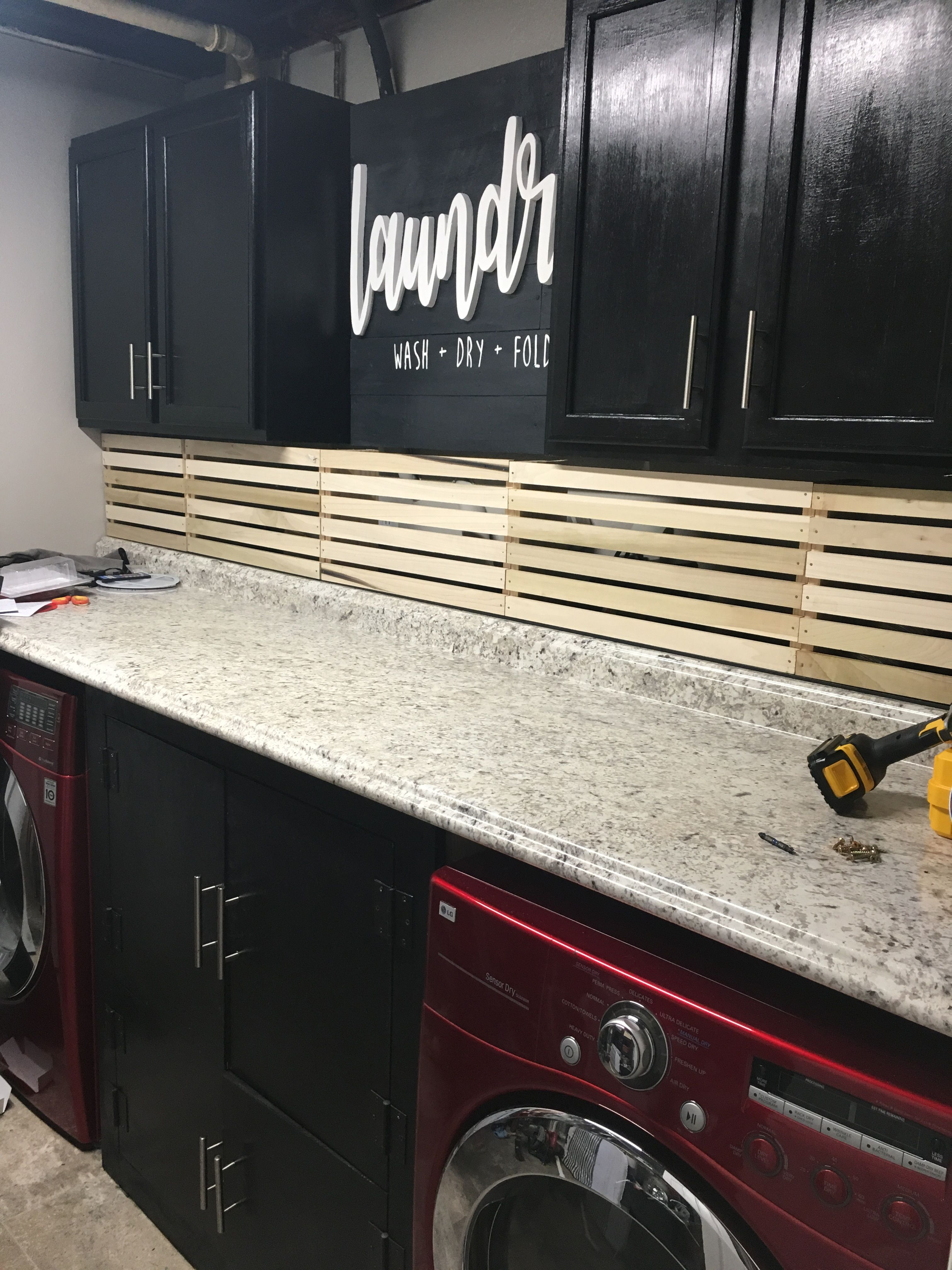 Hide Ugly Pipes In Laundry Room With Wooden Crates Barriers