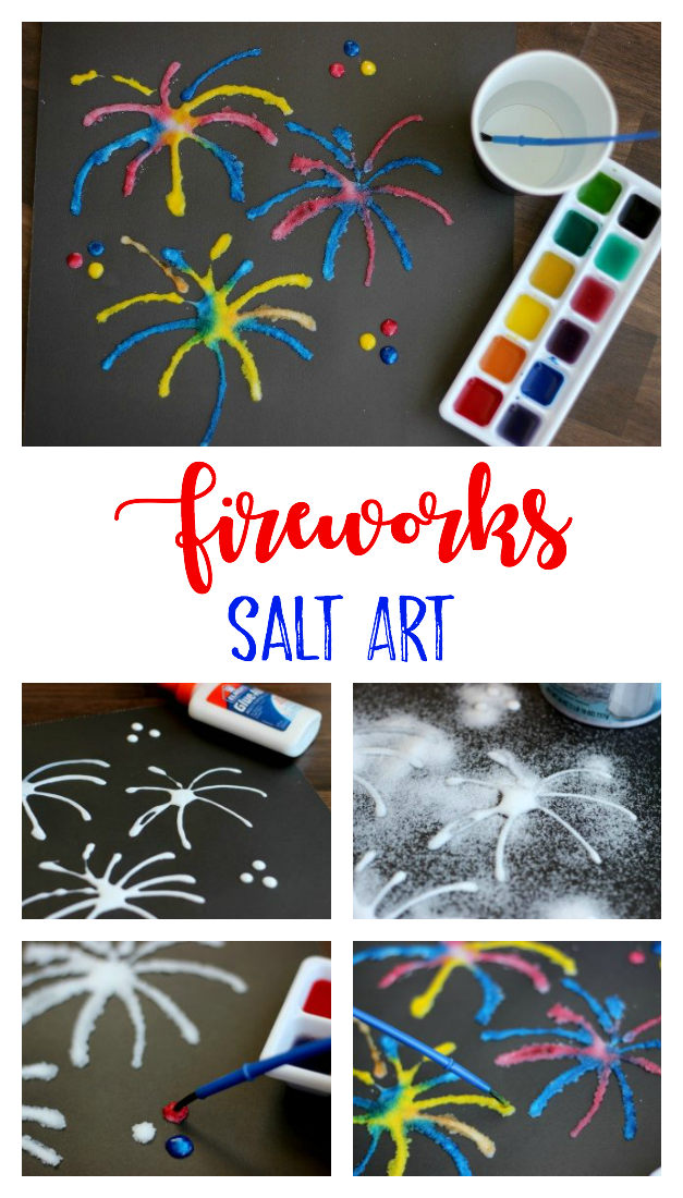Salt Art Painting for Kids: Add color and texture with salt! - Gluesticks Blog