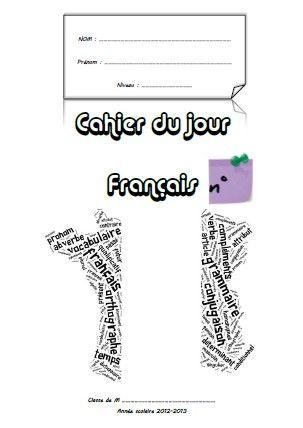 Page De Garde Cahier De Francais Pages De Garde Cahiers Page De Garde Cahier D Ecole