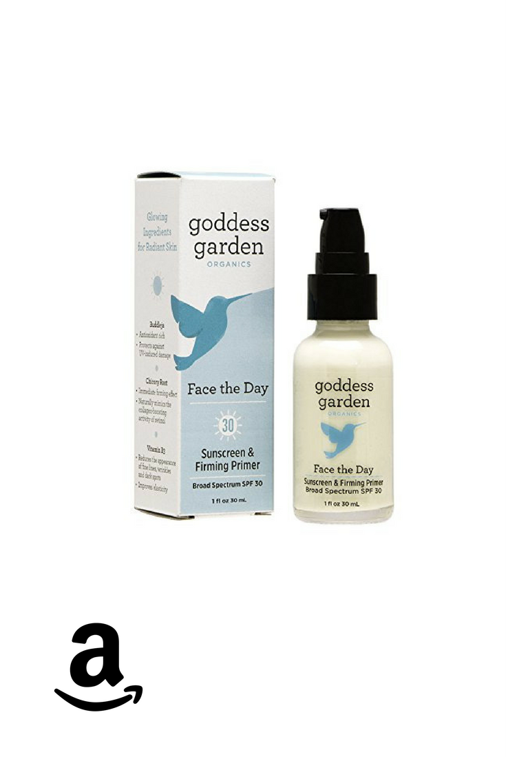 Goddess Garden Face the Day Sunscreen & Firming Primer is