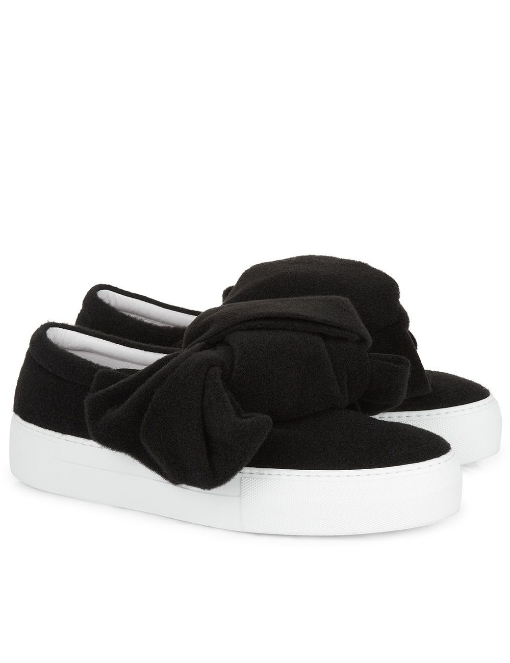 Discount With Paypal Bow shearling and leather slip-on sneakers Joshua Sanders Professional Sale Online JMngORXI5