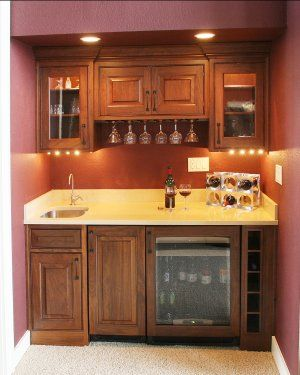 Mini Wet Bar Design That Works Well In Either A Bat Or Formal Dining Room Lots Of Storage E And Even Wine Chiller