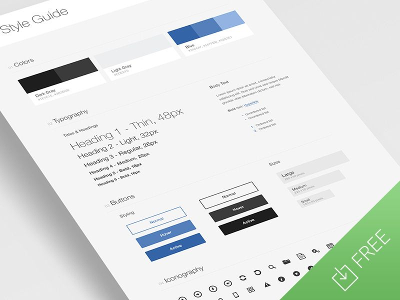 UI Style Guide Template | Template, Web style guide and Social media ...