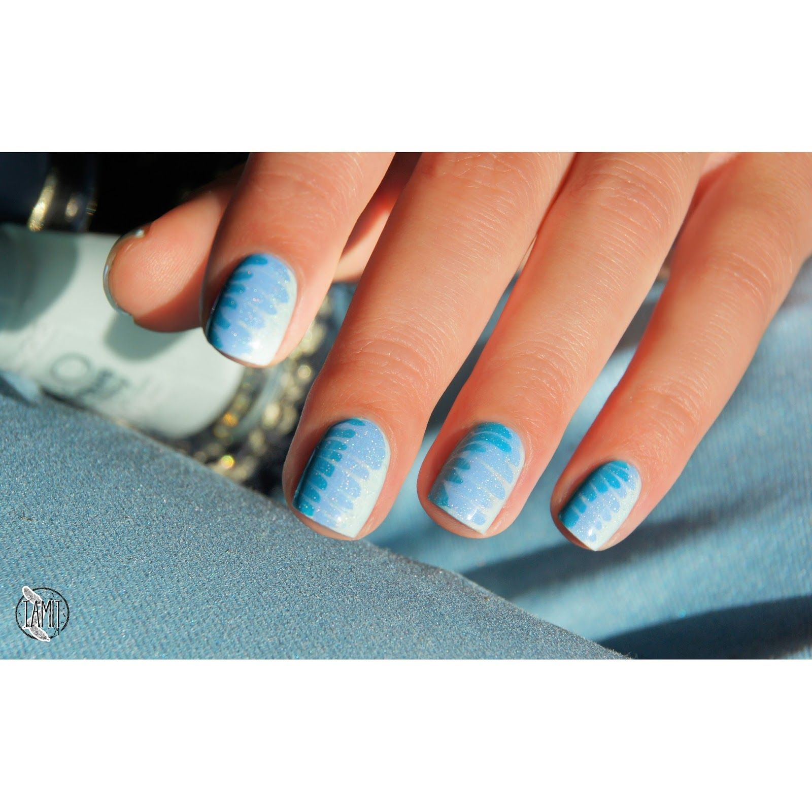 Bourjois Paris blue waves nails: tutorial. | Expensive Nails ...