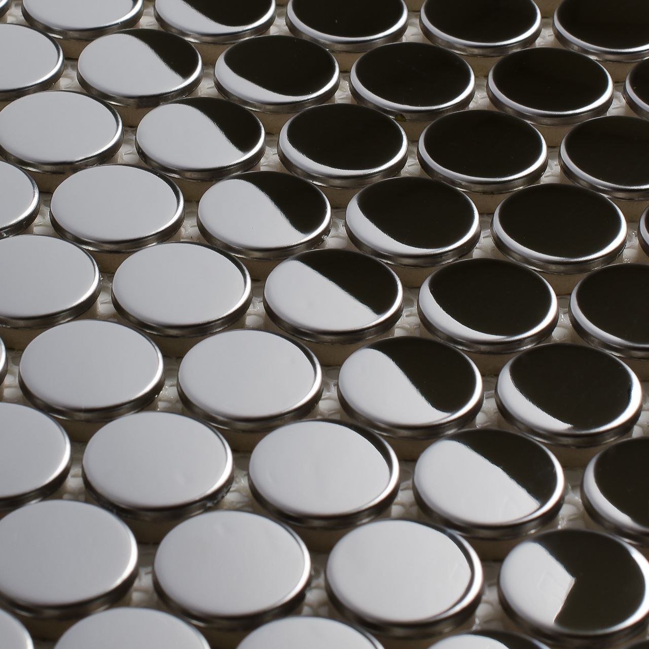 Stainless Steel Tile Penny Round Silver | Penny tile ...