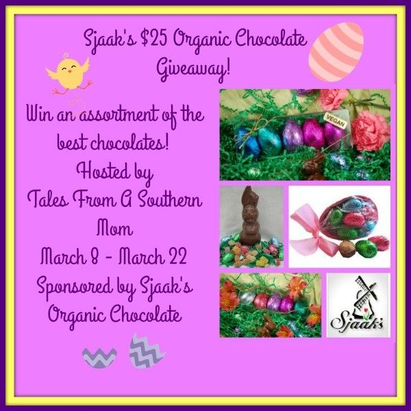 Sjaak's $25 Organic Chocolate #Giveaway - ends March 22! http://monicasrrr.blogspot.com/2016/03/sjaaks-25-organic-chocolate-giveaway.html