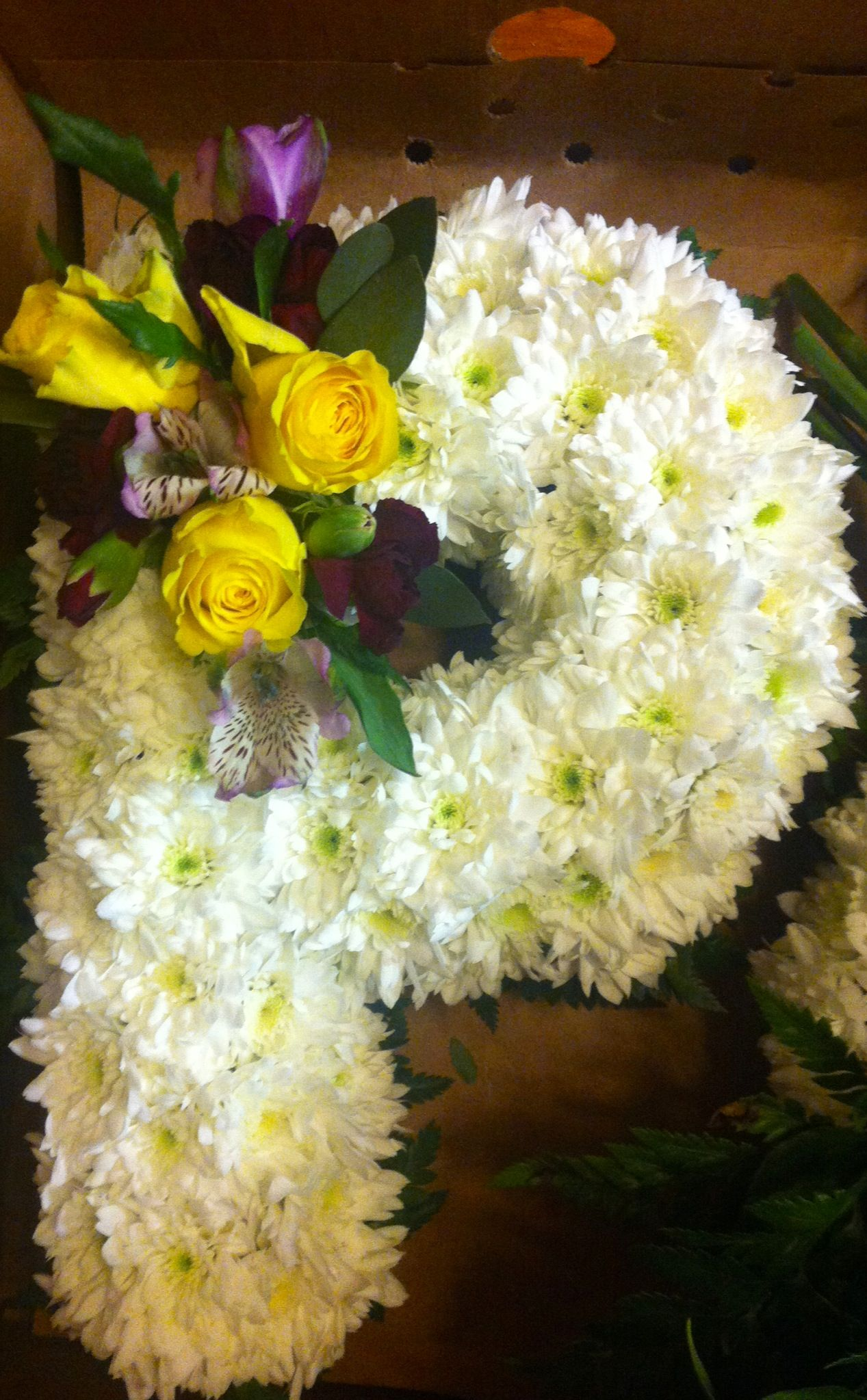 Letter P For A Funeral Piece Sympathy Flowers Pinterest