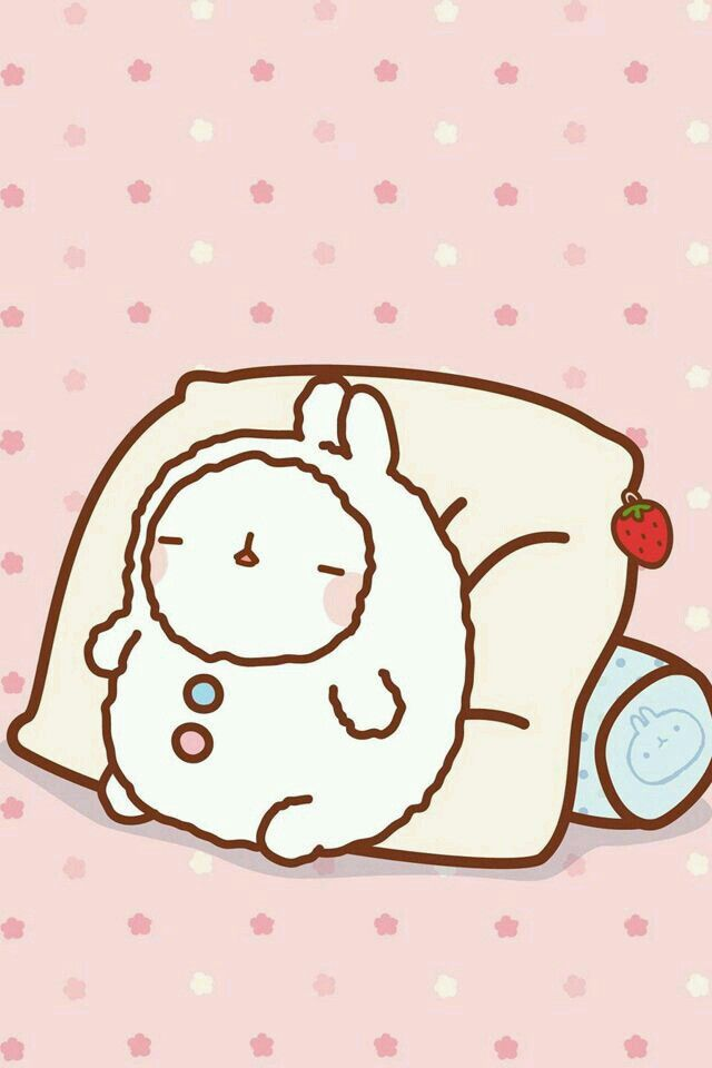 Oh Molang Got Cold And Snuggled Into Cozy PJs