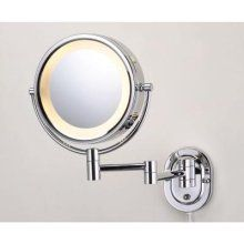 Jerdon Hl65c 8 Lighted Wall Mount Mirror Chrome 60