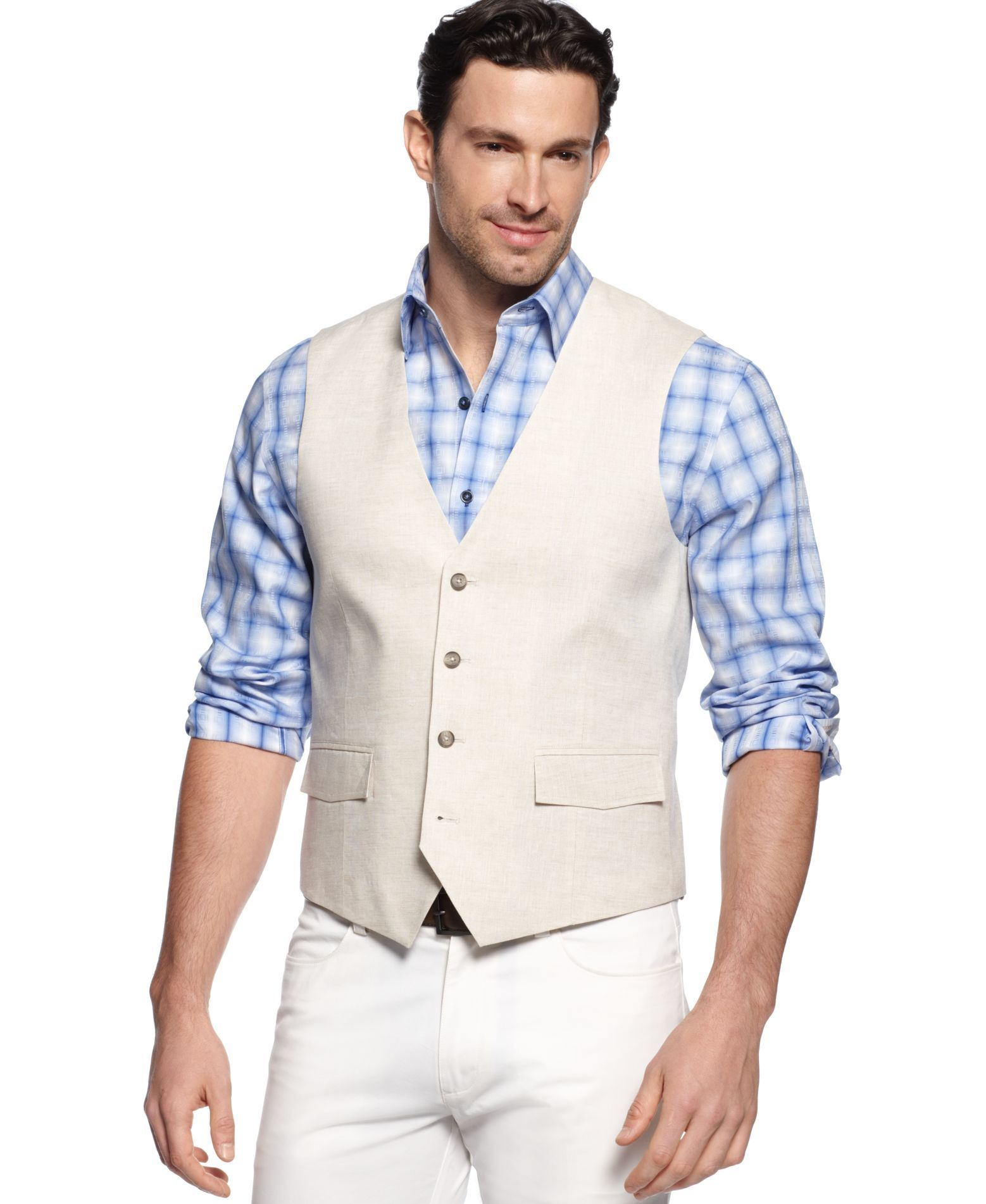 6cde457fccae Tasso Elba Big and Tall Linen Vest