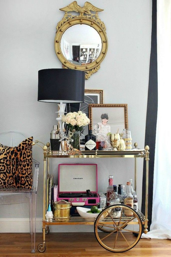 Bar Cart And Tea Serving Station Ideas How To Style