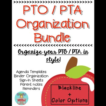 PTO   PTA Organization Binder 100 EDITABLE! Pta, Parent notes - club bylaws template
