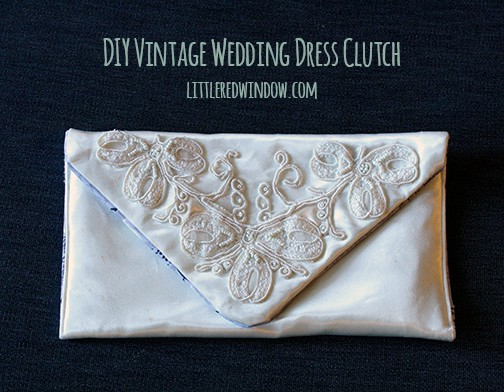 Photo of DIY Vintage Wedding Dress Envelope Clutch Tutorial – Little …