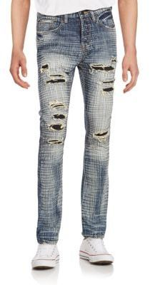 PRPS Hydrus Demon Ripped Crosshatch Jeans