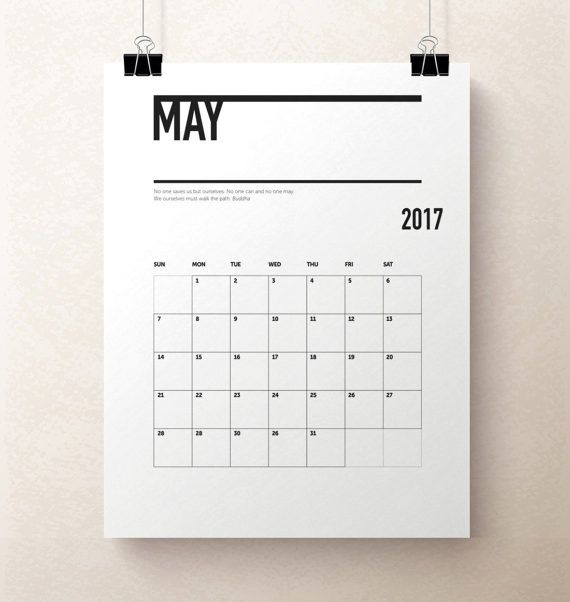 Printable Calendar Pages Monthly Modern Calendar Pdf