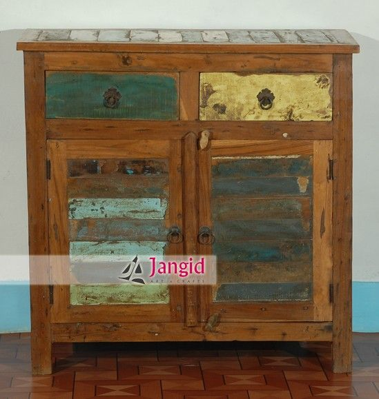 Indian reclaimed teak wood sideboard cabinet, wholesale Indain furniture  manufacturer and exporters india. http