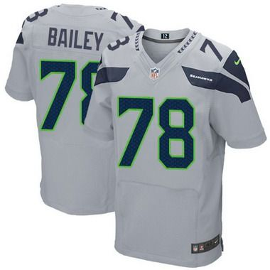 Men's Seattle Seahawks #78 Alvin Bailey Gray Alternate NFL Nike Elite Jersey