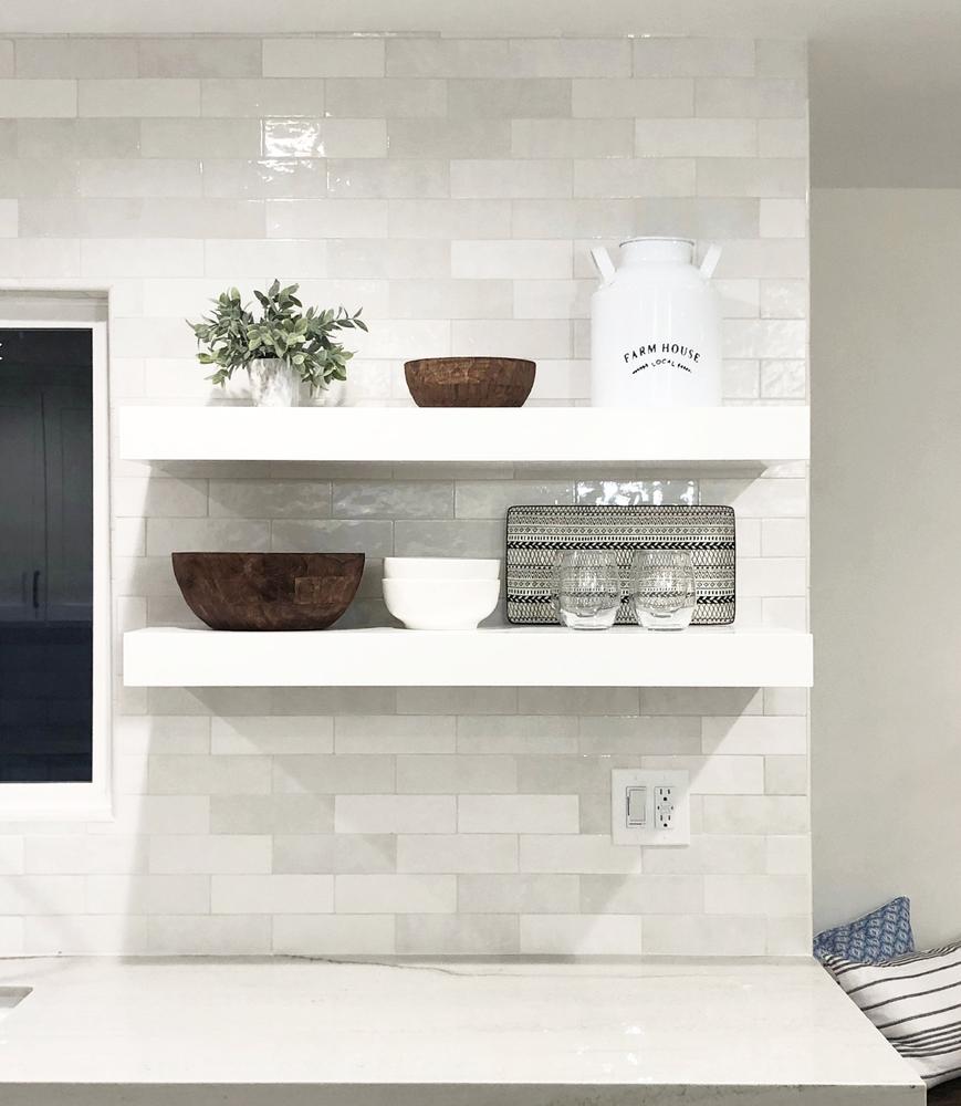 cloe tile by bedrosians white kitchen