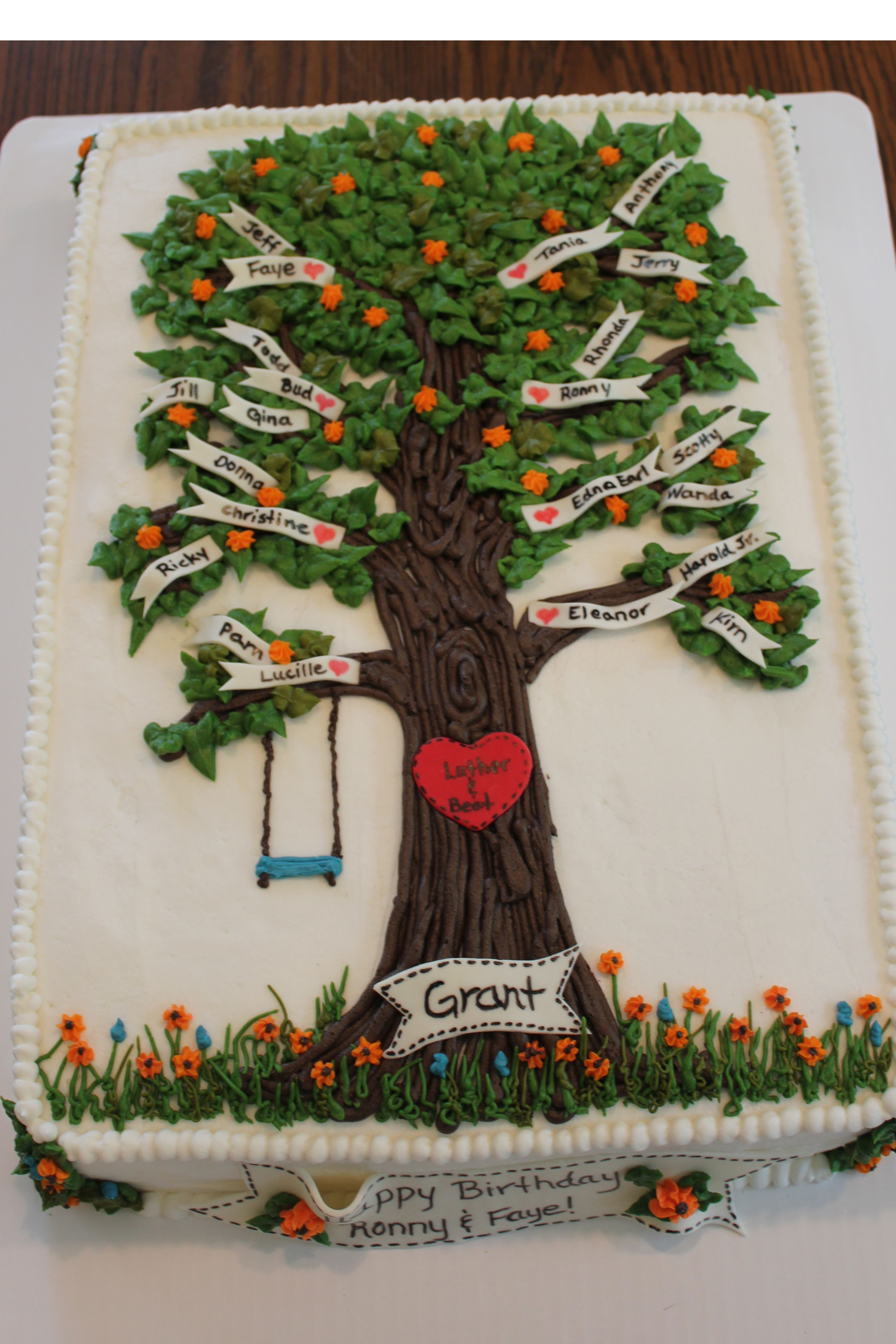 Family Tree Birthday Cake Inspired By Quot Angllfish Quot On Cake
