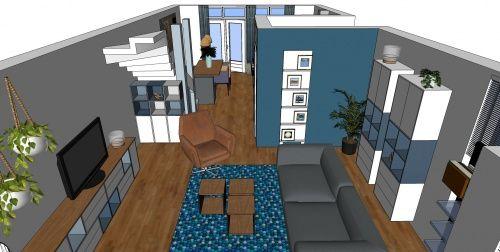 3D impressie interieurontwerp woonkamer Uitgeest by Flow Design (3 ...