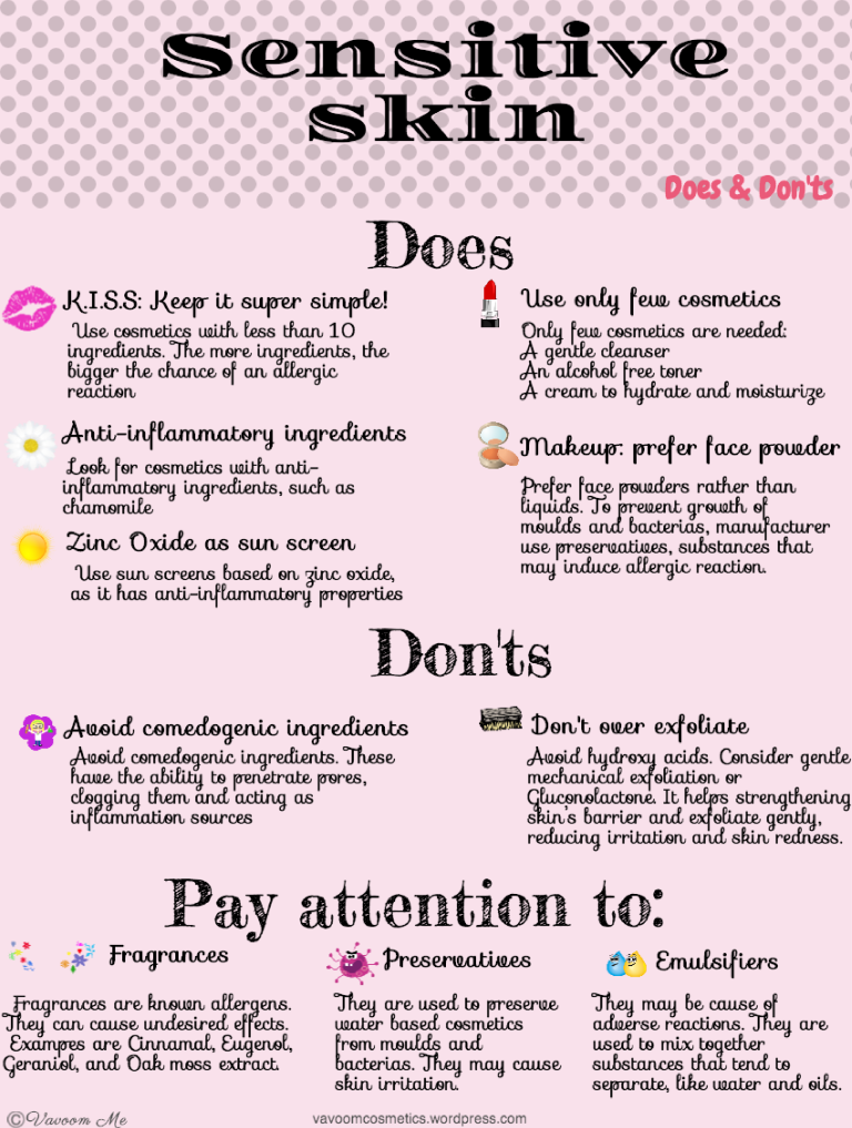Sensitive Skin Does Dont S Sensitive Skin Care Routine Sensitive Skin Care Natural Skin Care Routine