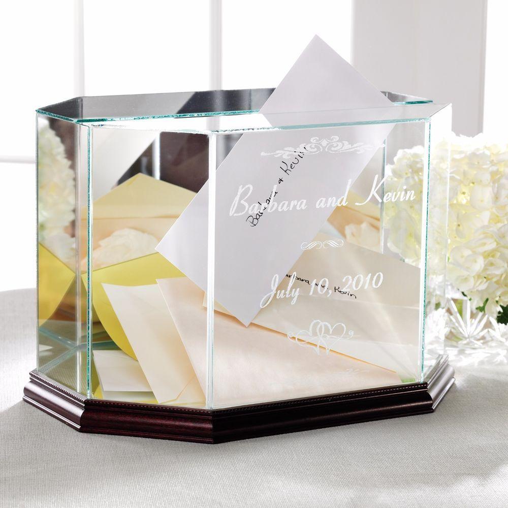 Wedding Card Box Wedding Money Box Personalized Glass & Mirror New ...