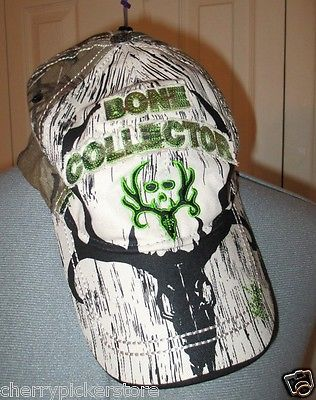 Bone Collector Camo Green Hat Cap sz l xl Paramount Outdoors Perfect Fit  Green Hats a4b4dc05780