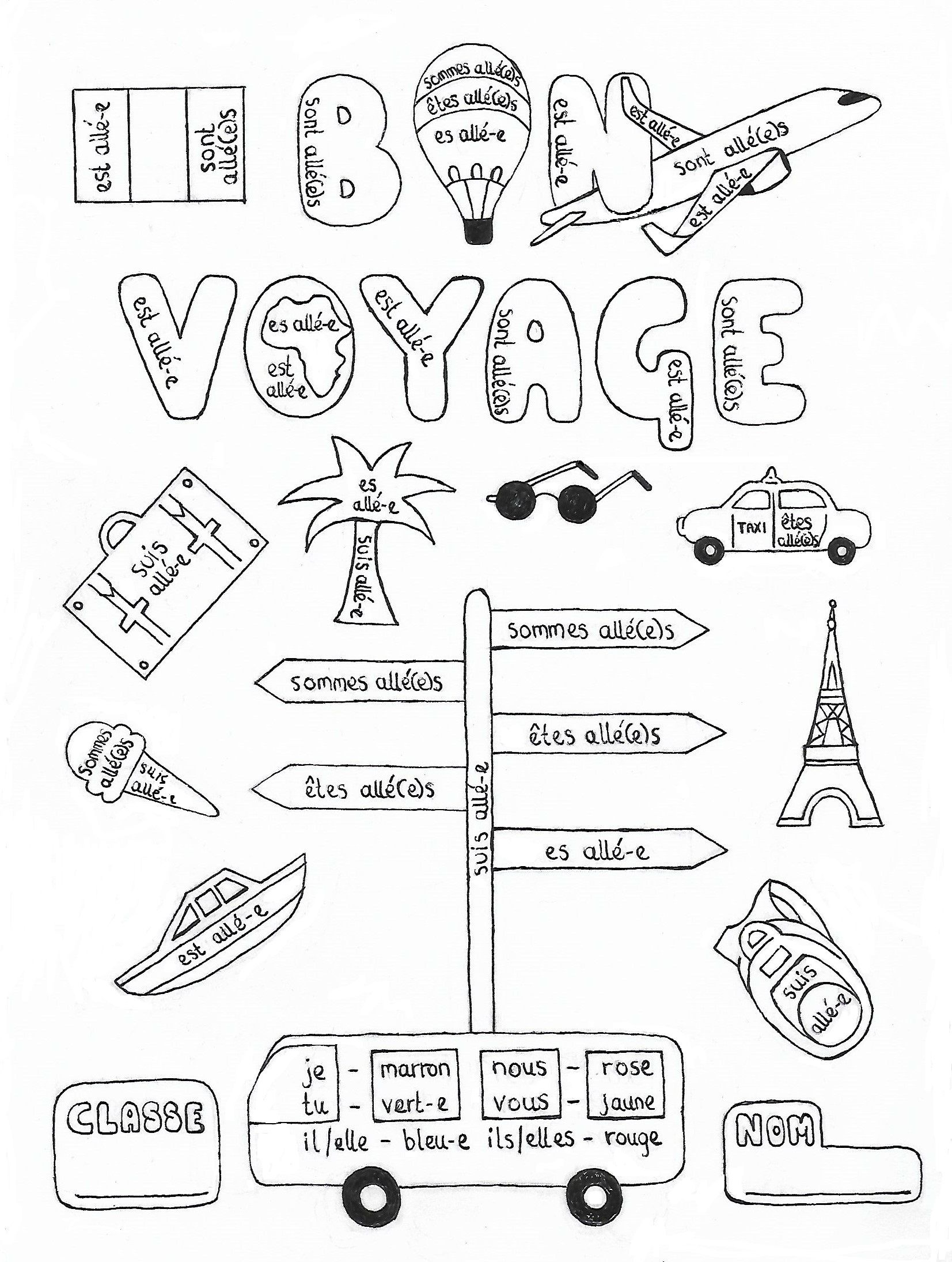 Students Will Love Coloring This Original Hand Drawn