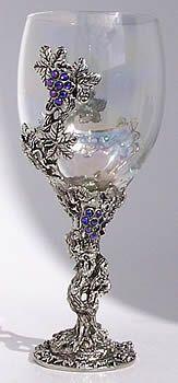 Crystal Vine Wine Goblet