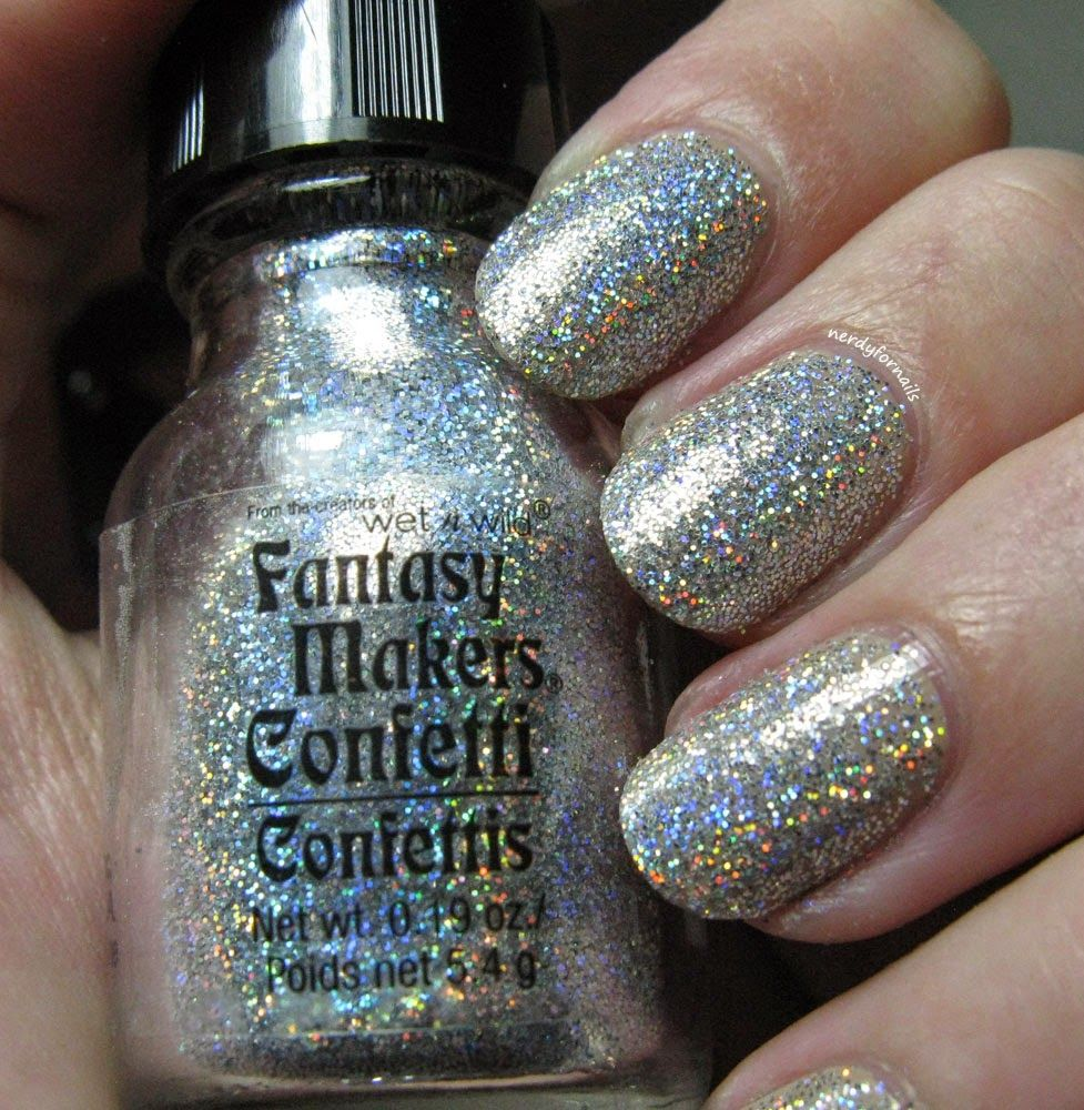 Wet n Wild Fantasy Makers Glitter Manicure Tutorial | Nails and Nail ...