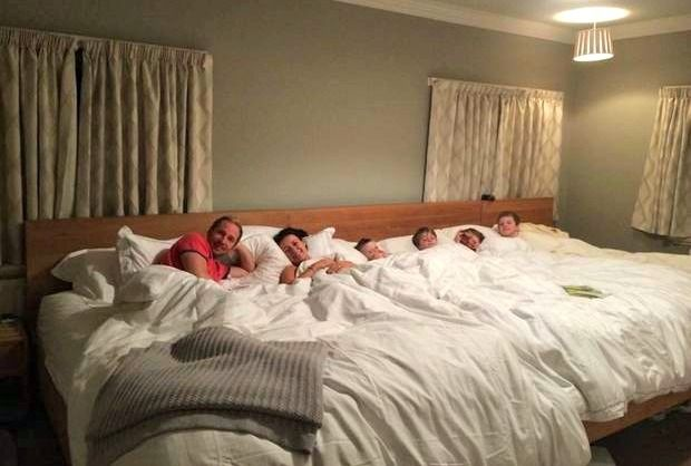 This Family Of 6 Co Sleeps In A Bed You Have To See To Believe