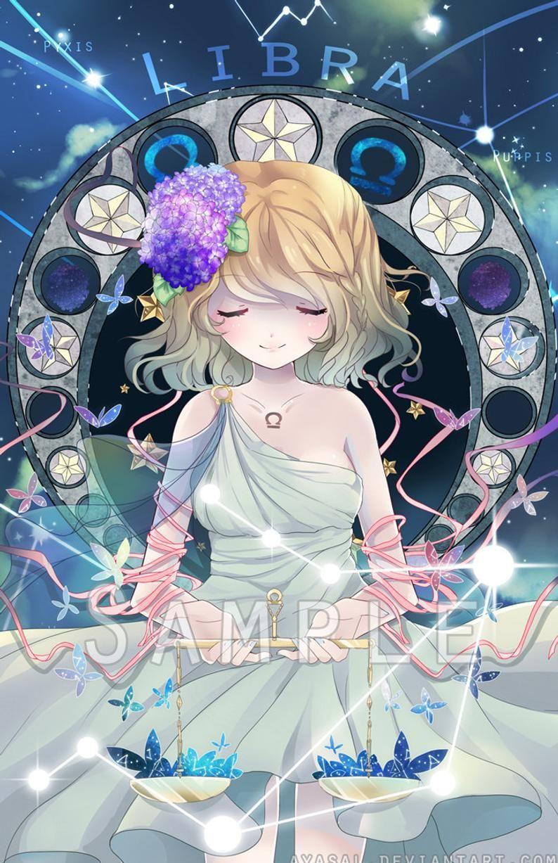 Libra [Zodiacal Constellations] Art Print Anime zodiac