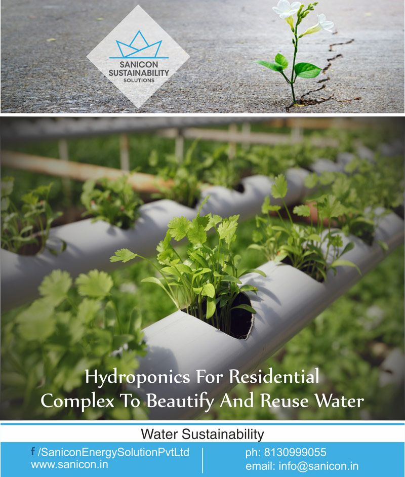 Now add a #hydroponics system to beautify your #home's surroundings and reuse the run off #water from your home. Hydroponics makes your home Eco-friendly as it helps in #recycling water and also brings down the water cost for the #household. for more details visit our website http://www.sanicon.in/