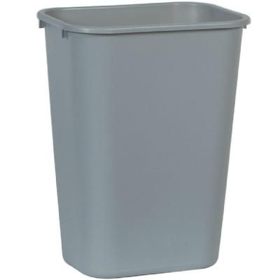Rubbermaid Commercial Products 10 25 Gal Gray Rectangular Trash Can Fg295700gray The Home Depot Rubbermaid Commercial Products Trash Can Waste Basket