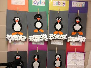 January: Snow/Arctic - Penguins (paint and fold)