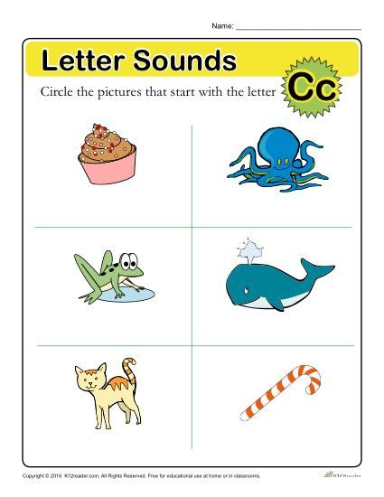 Letter Sounds C  Preschool Letter Worksheets Letter Worksheets